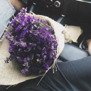 Bó hoa salem tím cho tình yêu bền chặt